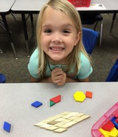 Having fun exploring shapes during our Math Workshop Time
