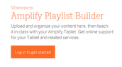 AMPLIFY PLAYLIST BUILDER