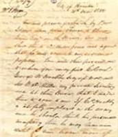 President Houston's letter