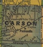 Carson County Map