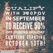 Holiday Sampling - Coming October 13th