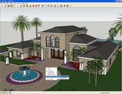 casa diseñada en  sketchup