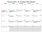 Mr. President PBL Calendar