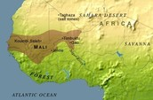 Location of Mali Kingdom - Political Boundaries