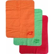 after you gave it your all in a race, right when you get out, dry your face with our multi-colour shams!