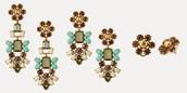 Melanie chandeliers (mint) $25