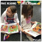 Fake Reading vs. Real Reading Anchor Chart