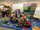 100th day of school celebration in Kindergarten!