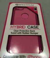 Clear/Pink iPhone 6 Protective Case