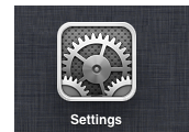 Launch the Settings App.