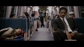 "Scene played of Will Smith and his son playing Gardner and his son living on the subway in the film ""The Pursuit of Happiness"""