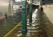 Subway in NYC flooded
