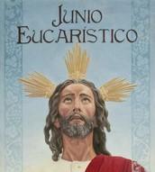 Cartel dedicado al Junio Eucarístico