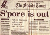 Singapore became independent.