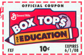 Support Meadowlawn... Help us earn CA$H by clipping, collecting, & turning in box tops.
