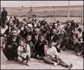 Roma prisoners in concentration camp