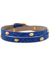 Hudson Leather Double Wrap (Blue)