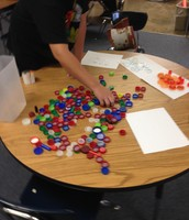 Creating ratios using everyday items - bottle caps!