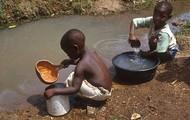 Children Drinking Dirty Water