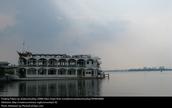 Floating Lake Palace at dawn