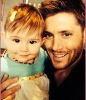 Jensen with his daughter