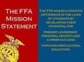 FFA Mission Statement