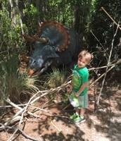 Zach & his fav Triceratops