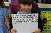 Counting and learning our numbers in Year 1