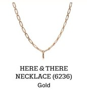 Here & There Necklace in Gold