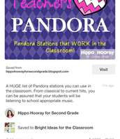 Pandora Stations for the Classrooms
