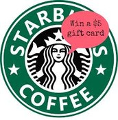 You could win a $5 Starbucks gift card!