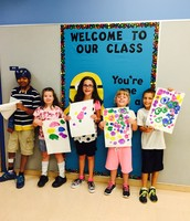 The best class with their artwork!