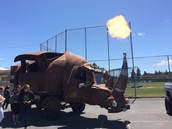The Rhino Flame Signals Lunch at the Car Show!