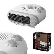 WL44004 Warmlite 2000W Flat Fan Space/Room Heater £8
