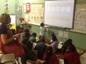 Learning to tell time in Mrs. McDaniel's Class