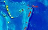 Fiji Volcano Map