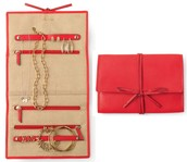 *SOLD EW*  Bring It Jewelry Roll - Cerise - $15