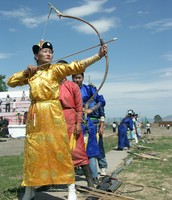 Naadaam Festival: Archery.