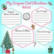 Origami Owl Wish  List