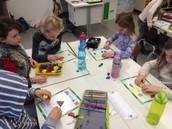 Students explore 2d shapes!
