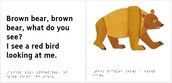 Text from Brown Bear Brown Bear book