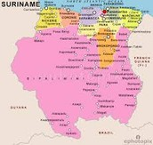 political map of Suriname
