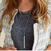 Gitane Tassel Necklace in silver