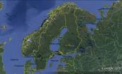 מפת פינלנד שיצרתי בגוגל הארץ