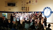 The entire choir performing Tuesday night