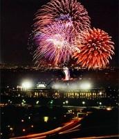 Texas Rangers Fireworks show