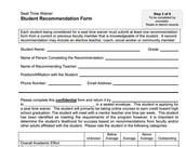 P - Student Recommendation Form