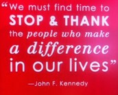 From President Kennedy