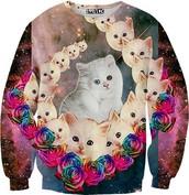 🌺 La Sudadera de Mucho Las Gatos