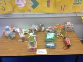 Sample of Creative Egg Safety Holders prepared by the bright minds of our 8th grade class...